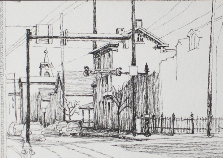 Becky Brown - Adams County Courthouse, pen and ink