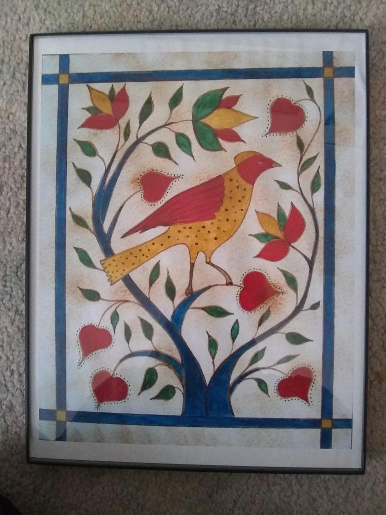 Christine Eckman - Fraktur Bird